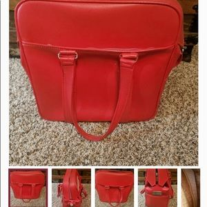 Vintage Red Samsonite Silhouette Carry All Bag